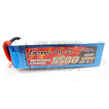 [Gens ace] 5500mAh 22.2V 45C 6S1P Lipo Battery Long Pack 고급배터리 (No plug) 헬셀